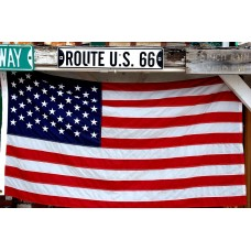 Route 66 - Arizona, Seligman - American flag