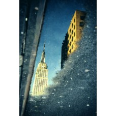 New York - Empire State Building, reflection